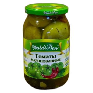 Marinuoti žali pomidorai WALDIBEN, 830 g