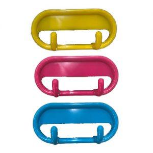 Plastikinis dviejų kablių kabliukas, 10,5 cm, 1 vnt.