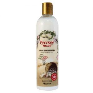 Plaukų šampūnas su česnakų ekstraktu RUSSKOJE POLE ČESNOK, 400 ml