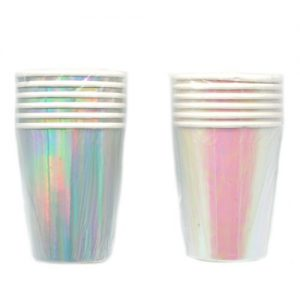 Popieriniai puodeliai METALLIC, 6 vnt.