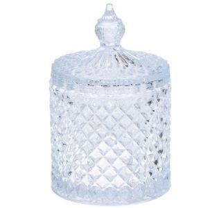 Stiklinis indas su dangteliu ALPINA, 14,5 x 8,5 cm, 1 vnt.