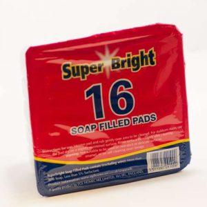 Šveičiamosios kempinėlės su muilu SUPER BRIGHT, 16 vnt.