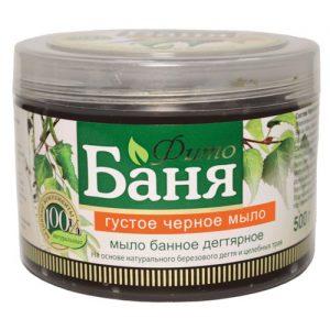 Tirštas juodasis muilas RUSSKOJE POLE FITO BANIA, 500 g