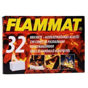 Ugnies uždegimo kubeliai FLAMMAT, 32 vnt.