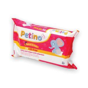Vaikiškos drėgnos servetėlės su alantoinu PETINO, 84 vnt.