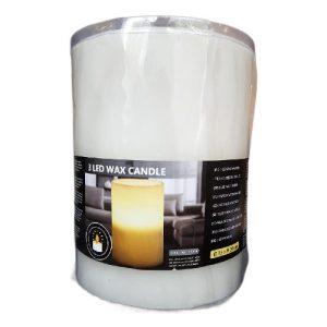 Vaškinė žvakė su 3 LED, 15 x 20 cm