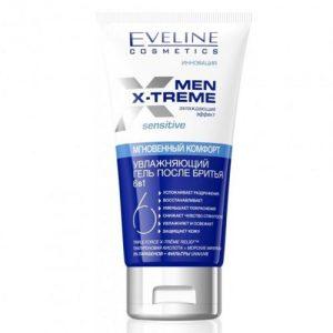 Vyriška drėkinamoji želė po skutimosi EVELINE COSMETICS MEN X-TREME SENSITIVE 6 IN 1, 150 ml