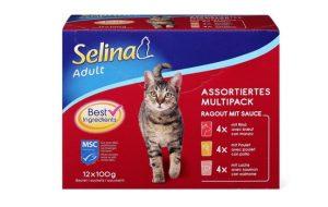 Kačių guliašo rinkinys SELINA ADULT, 12 x 100 g
