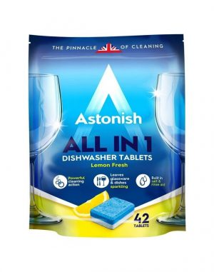 Indaplovių tabletės ASTONISH ALL IN 1 LEMON FRESH, 42 tab.