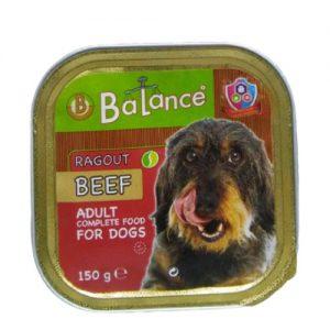 Šunų maistas, konservuotas veršienos paštetas BALANCE, 150 g
