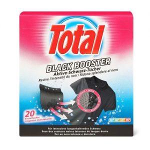 Juodą spalvą atnaujinančios skalbinių servetėlės TOTAL BLACK BOOSTER, 12 vnt.