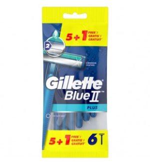Vienkartiniai skustuvai GILLETTE BLUE II PLUS, 6 vnt.
