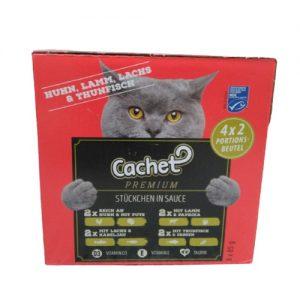 Konservuotas kačių ėdalas CACHET PREMIUM, 8 vnt. x 85 g