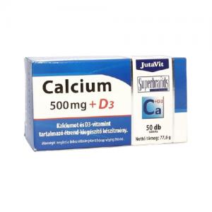 Maisto papildas JUTAVIT KALCIUM 500 MG + D3, 50 tab.