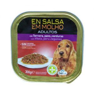 Šunų maistas, guliašas su jautiena, kalakutiena ir daržovėmis EN SALSA EM MOLHO, 300 g