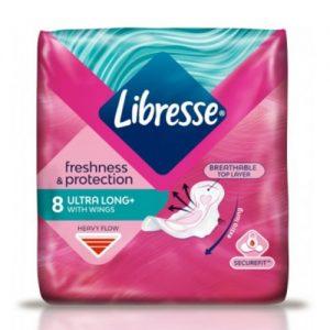 Higieniniai paketai LIBRESSE INVISIBLE SUPER, 8 vnt.