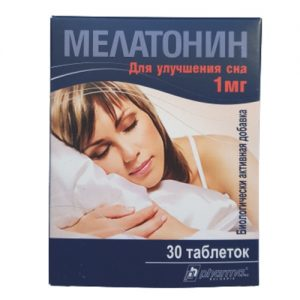 Maisto papildas MELATONIN, 30 tab.