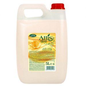 Pieno-medaus kvapo skystasis muilas ATTIS, 5 l