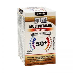 Maisto papildas JUTAVIT MULTIVITAMIN IMMUNER SENIOR 50+, 45 tab.