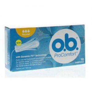 Higieniniai tamponai O.B. PROCOMFORT NORMAL, 16 vnt.