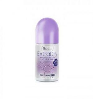 Moteriškas rutulinis antiperspirantas INELIA EXTRA DRY, 50 ml