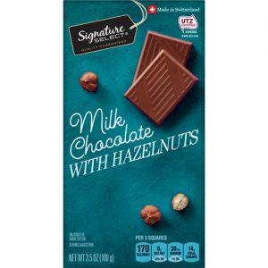 Pieniškas šokoladas su lazdyno riešutais SIGNATURE SELECT, 100 g