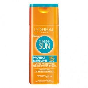 Apsauginis pienelis nuo saulės L'OREAL SUBLIME SUN PROTECT & SUBLIME SPF 15, 200 ml