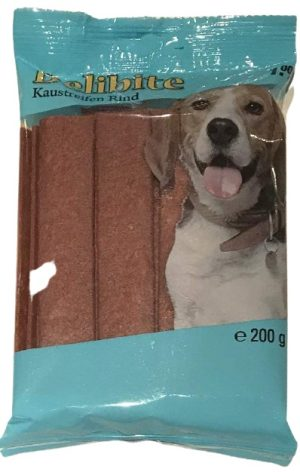 Šunų skanėstai-lazdelės su jautiena DELIBITE, 200 g