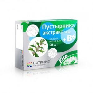 Maisto papildas Sukatžolių ekstraktas + vitaminas B6 VITAMIR,  50 tab.