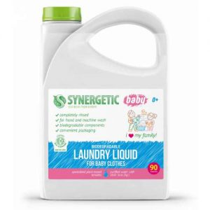 Ekologiškas koncentruotas skystas skalbiklis vaikiškiems rūbams SYNERGETIC, 2,75 l