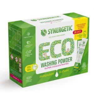 Ekologiški koncentruoti skalbimo milteliai SYNERGETIC, 20 × 25 g