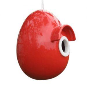 Inkilas KERAMIKINIS, raudonos spalvos, 14,5x16x17,5 cm