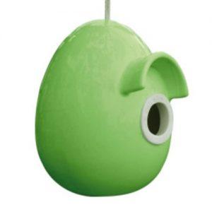 Inkilas KERAMIKINIS, žalios spalvos, 14,5x16x17,5 cm