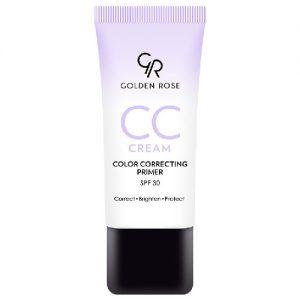 CC kremas-spalvą koreguojantis gruntas GOLDEN ROSE SPF 30, 30 ml