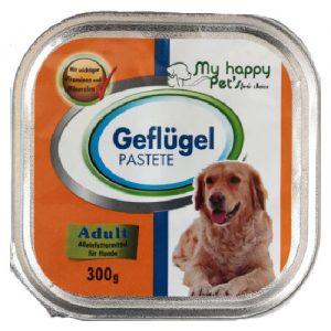 Šunų ėdalas, paštetas su paukštiena MY HAPPY PET'S, 300 g