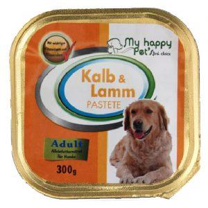 Šunų ėdalas, paštetas su veršiena ir ėriena MY HAPPY PET'S, 300 g