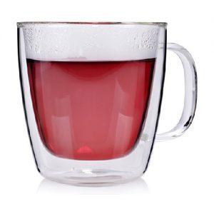 Dvigubo stiklo puodelis SANGER, 300 ml
