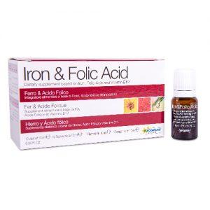 Maisto papildas IRON & FOLIC acic + B12, 10 x 10ml