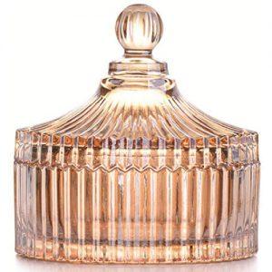 Stiklinė dekoracija su dangteliu, 10,5x12,5 cm, 1 vnt.