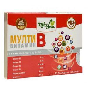 Vitaminų B kompleksas NIKSEN, 40 tab.