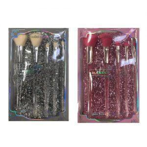 Kosmetinių šepetėlių rinkinys su dėklu SWEET BEAUTY, 1 kompl.