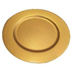 Aukso spalvos padėklas, Ø 33 cm