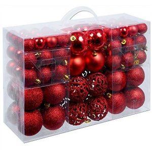 Eglutės žaisliukų rinkinys, raudoni, 100 vnt.