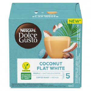 Kavos kapsulės NESCAFE DOLCE GUSTO COCONUT FLAT WHITE, 12 kaps.