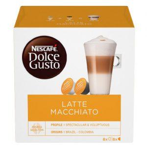 Kavos kapsulės NESCAFE DOLCE GUSTO LATTE MACIAAT, 16 kap.