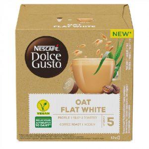 Kavos kapsulės NESCAFE DOLCE GUSTO OAT FLAT WHITE, 12 kaps.