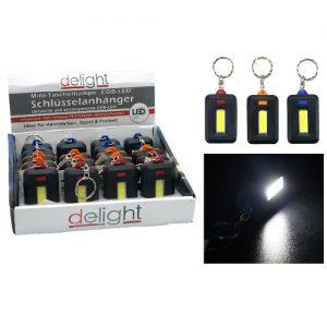 LED žibintuvėlis-raktų pakabukas DELIGHT, 1 vnt.