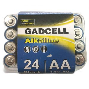 Maitinimo elementai GADCELL ALKALINE AA, 24 vnt.