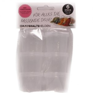 Plastikiniai indeliai HAUSHALTS, 6 vnt.