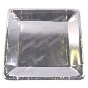 Popierinės lėkštės, 23x23 cm, 4 vnt.